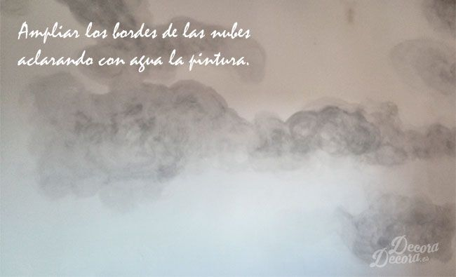 Nubes en la pared