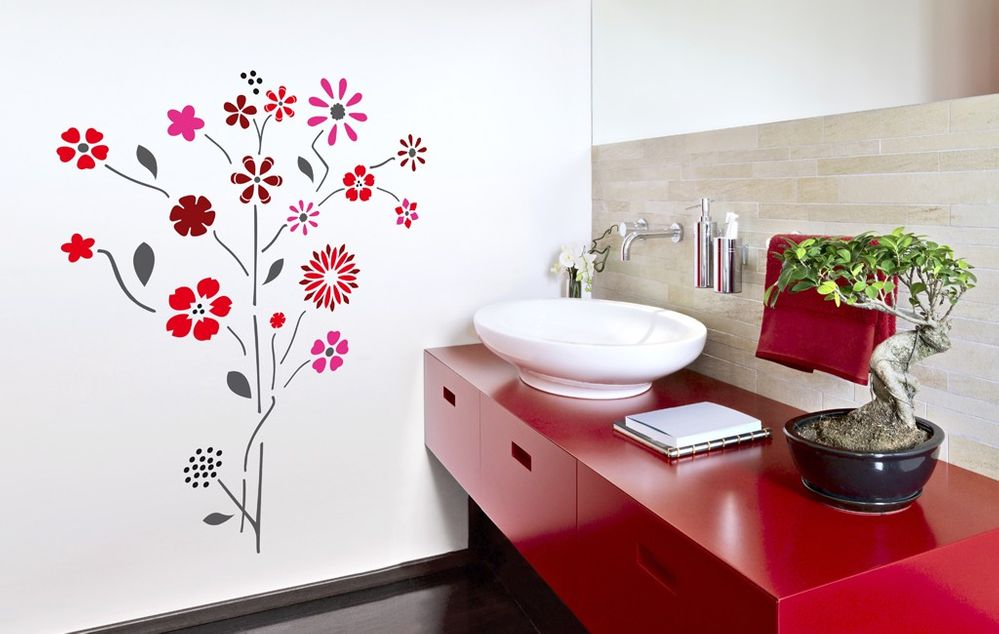 Decora las paredes de tu casa con la t cnica del estarcido for Como decorar una pared con pintura