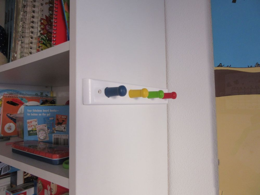 Perchero de pared de estilo infantil leroy merlin - Percheros pared leroy merlin ...