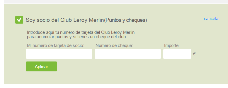 leroy merlin cheque regalo 2019
