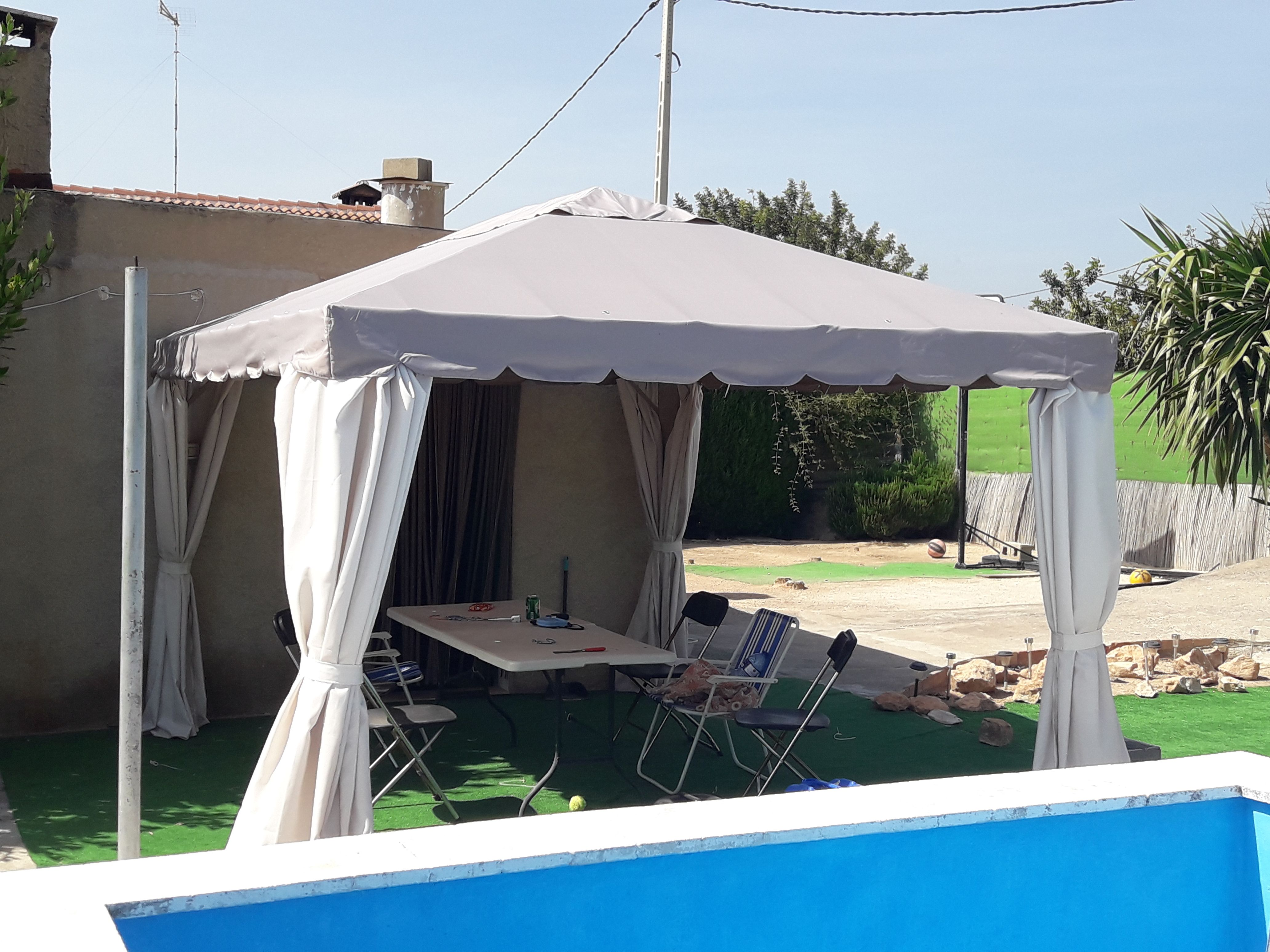 Repuesto toldo pergola 3x3 excellent imagen imagen with for Lona repuesto toldo