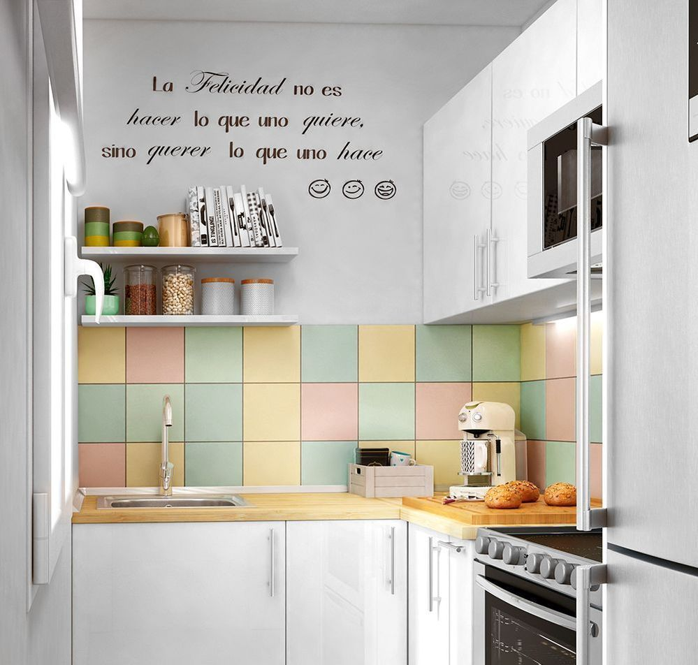 5 claves para decorar la pared de la cocina leroy merlin - Vinilos pared leroy merlin ...