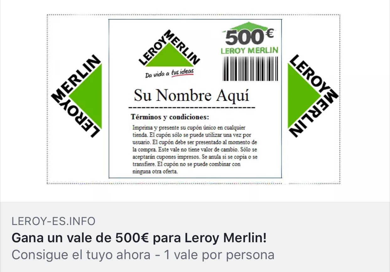 publicidad de cheque regalo leroy merlin. Black Bedroom Furniture Sets. Home Design Ideas