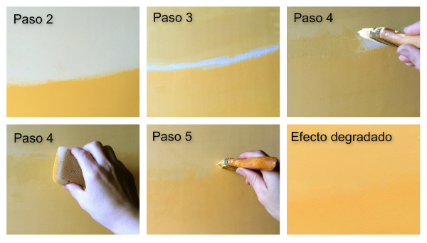 Efecto degradado en pared paso a paso