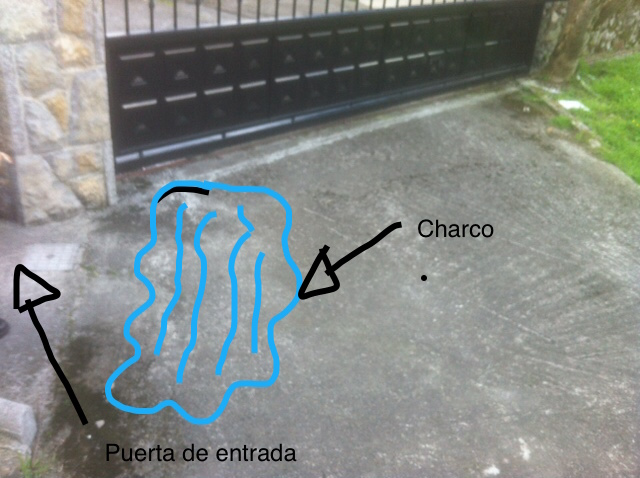 Charco que se forma